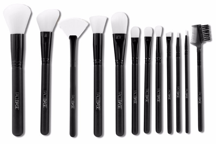 12-Piece Brush Set - Black & White