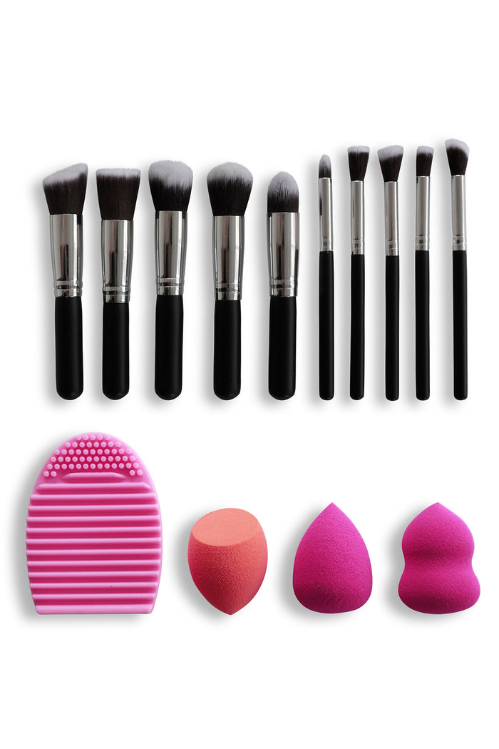 Travel Set with Makeup Blenders & Brush Cleaner