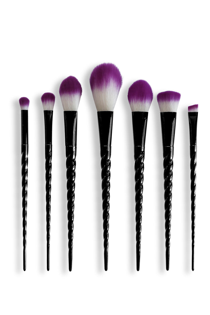 Unicorn Makeup Brush Set - Black
