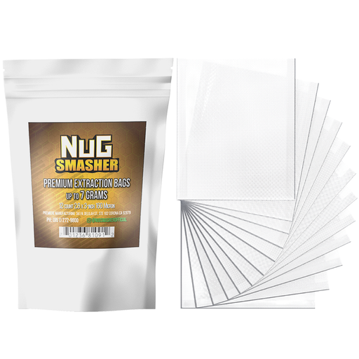 NugSmasher 7 Gram Premium Extraction Rosin Bags - Pack of 12 (37u, 90u, 120u, 160u)