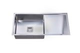 Deep Square Bowl Sink with Drainer