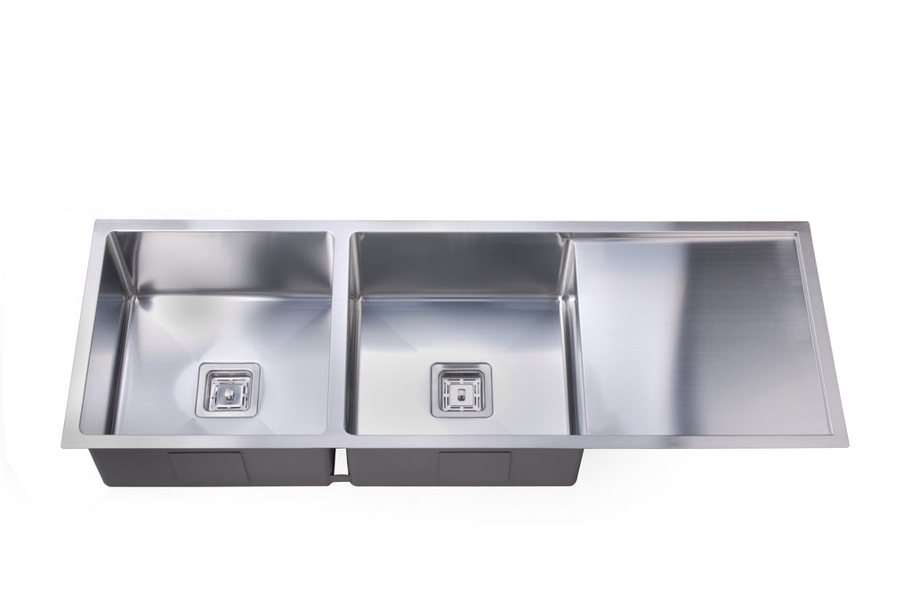 Deep Double Square Bowl Sink with Drainer – Suprema - Shinda ...