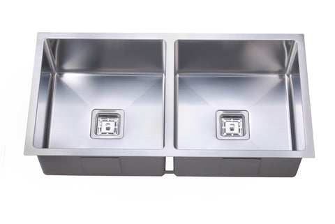 Deep Double Square Bowl Sink