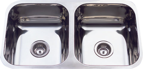 Double undermount sink