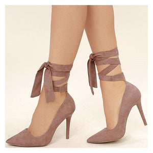 HOLLY suede pointy toe heels
