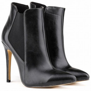 The botas femininas high heels ankle boots