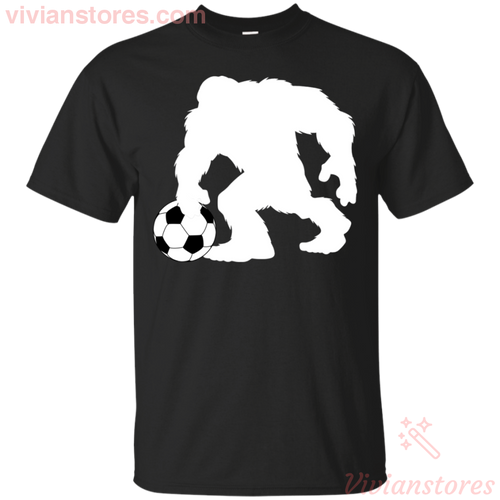 Bigfoot Play Soccer T-Shirt-Vivianstores