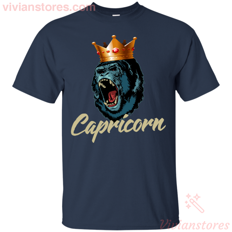 Capricorn King Gorilla Birthday For Men Zodiac T-shirt - Vivianstores.com
