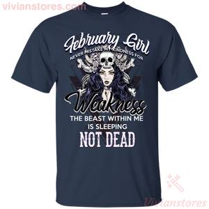 February Girl Never Mistake T-Shirt-Vivianstores