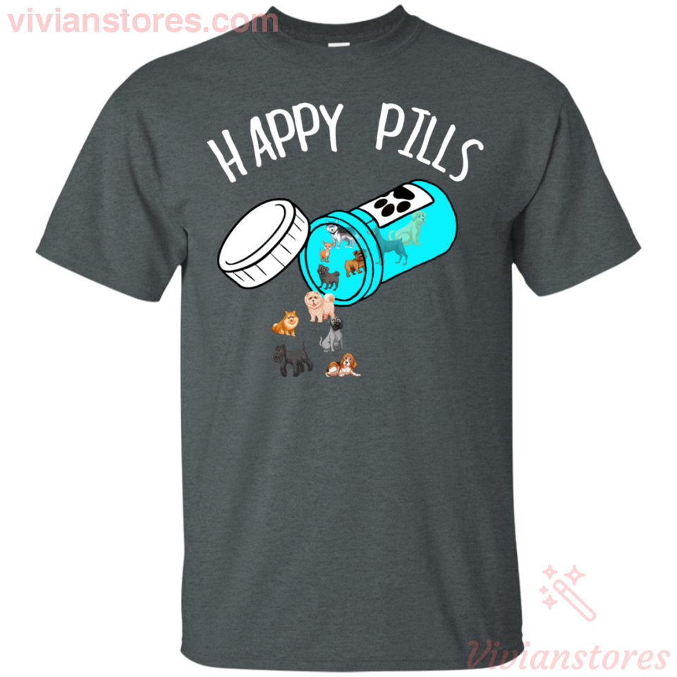 Happy Pills Dog T-Shirt - Vivianstores.com