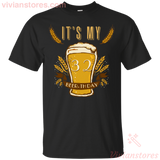 It's My 33 Beer-thday Birthday T-shirt For Beer Lover-Vivianstores