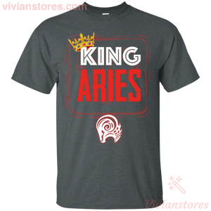 Kings Are Born In Aries Men Birthday T-Shirt - Vivianstores.com