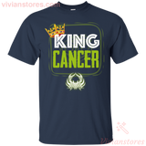 Kings Are Born In Cancer Men Birthday T-Shirt - Vivianstores.com