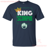 Kings Are Born In Scorpio Men Birthday T-Shirt - Vivianstores.com