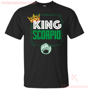 Kings Are Born In Scorpio Men Birthday T-Shirt-Vivianstores