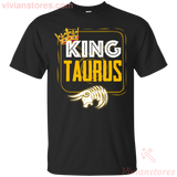 Kings Are Born In Taurus Men Birthday T-Shirt - Vivianstores.com