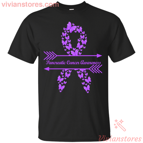 Pancreatic Cancer Awareness Butterfly Warrior T-Shirt - Vivianstores.com