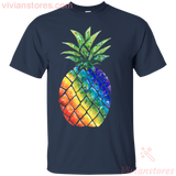Pineapple Rainbow colors Men's Women's  T-shirt - Vivianstores.com