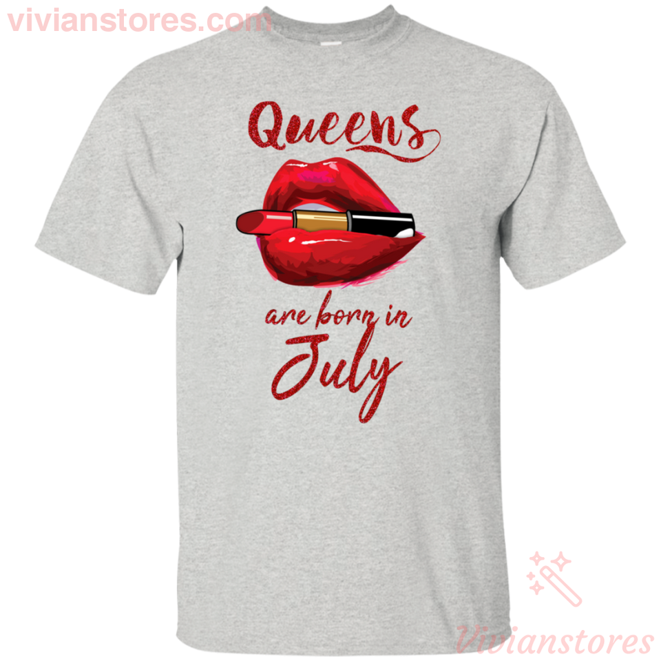Queens Are Born In July T-Shirt - Vivianstores.com