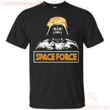 Space Force T-shirt Darth Vader Trump Hair Funny Fan-Vivianstores