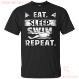 Swimming Shirt Eat Sleep Swim Repeat Men Women T-shirt - Vivianstores.com