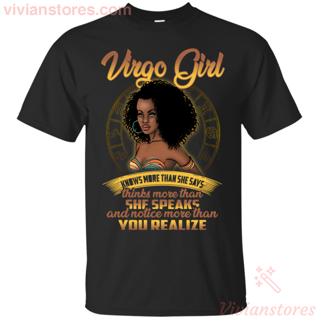 Virgo Girl She Know More Than She Says T-shirt - Vivianstores.com