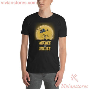 567eee18 Witches With Hitches Halloween Camping T-Shirt