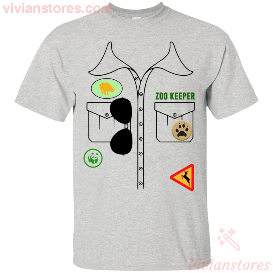 Zoo Keeper Halloween Costume Job Funny T-Shirt Party Idea-Vivianstores