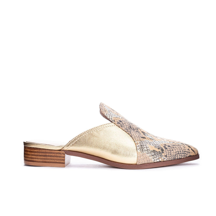 42 Gold - Moon Snake Metallic Gold Slip on Shoe - Shoes