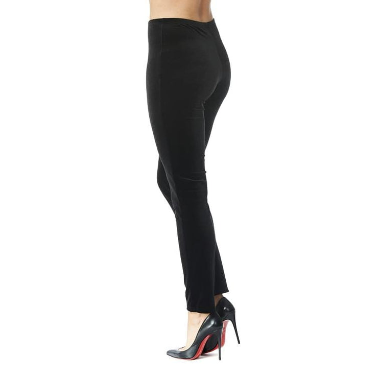 Arianne - 4254 Arianne Black Velvet Leggings - Pants