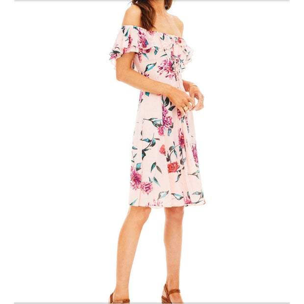 ASTR - ASTR Pink Floral Cassidy Dress - Women - ACDR95255