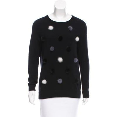 Autumn Cashmere - Autumn Cashmere Fur Pom Pom Sweater - Women - R10015