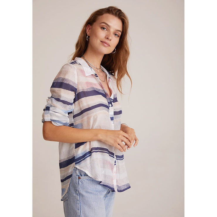 BELLA DAHL - Capri Button Down in Water Color - Top