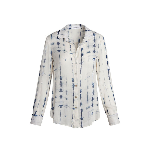 BELLA DAHL - Flowy Button Down in Indigo Tie Dye - Top