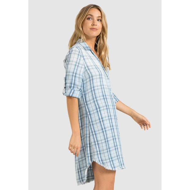 BELLA DAHL - FRAY HEM SHIRT DRESS - Dress - B6833