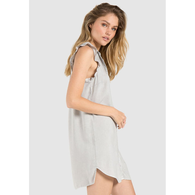 BELLA DAHL - Sleeveless Ruffle Shirt Dress - Dress - B6161 - 1