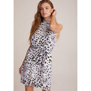 BELLA DAHL - Smocked Neck Dress In Animal Ink Dots Print - Dresses - B6284-B14-304