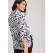 BELLA DAHL - Watercolor Animal Print Long Sleeve Button Down - Top - B2978-A13-1