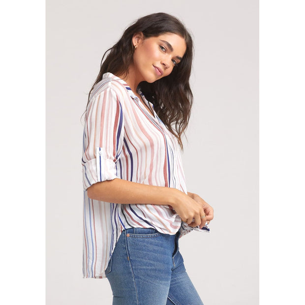 BELLA DAHL - Watercolor Capri Button Down - Top - B2948-A37-1