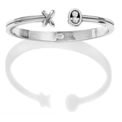 BRIGHTON JEWELRY - Hugs & Kisses Open Hinged Bangle - Accessories