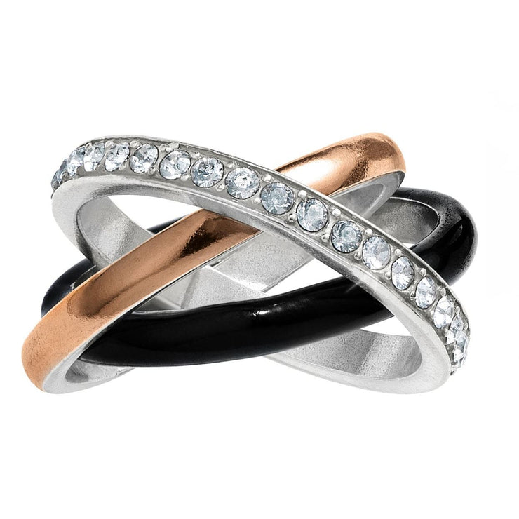 BRIGHTON JEWELRY - Neptunes Rings Black Trio Ring - Accessories