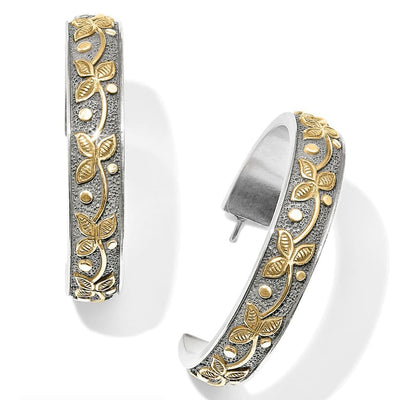 BRIGHTON JEWELRY - Udaipur Palace Silver and Gold Hoop Earrings - Accessories