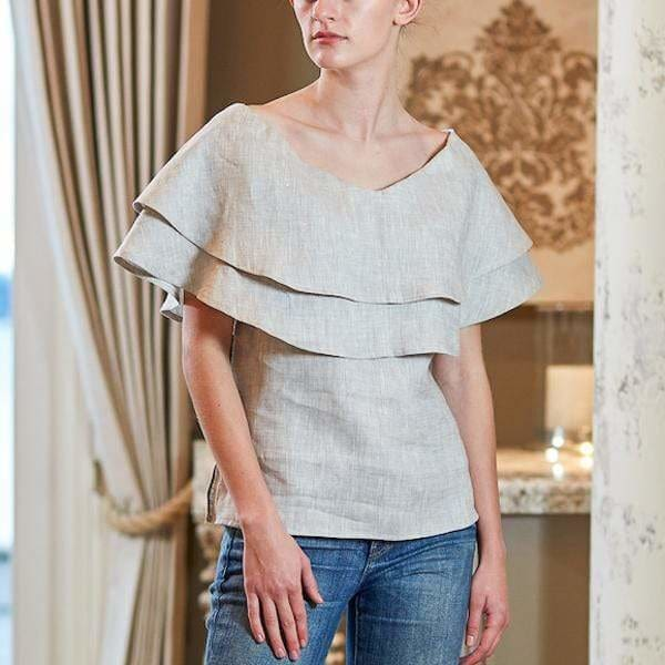 CROWN LINEN - Bailey Top - TWO COLORS - Shirt