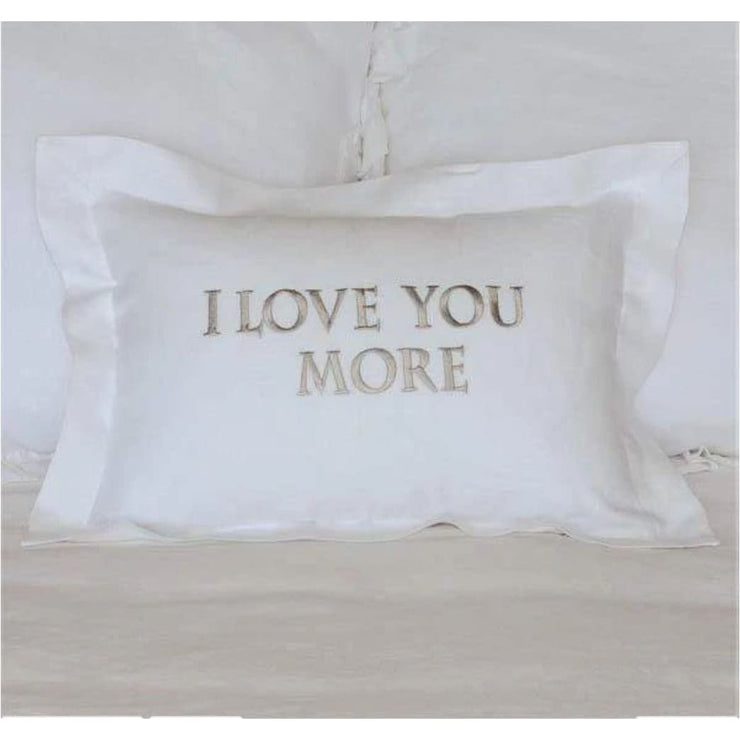 CROWN LINEN - I Love You More Linen Decor Pillow - Home + Bath