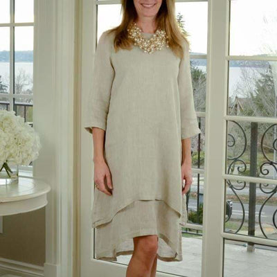 CROWN LINEN - Paige Dress by Crown Linen - TWO COLORS - Dress