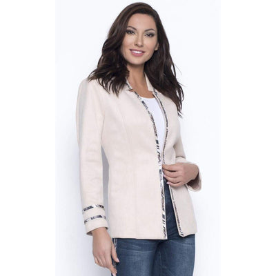 Divalani Style - Frank Lyman Blush Jacket With Snake Detail - 203788