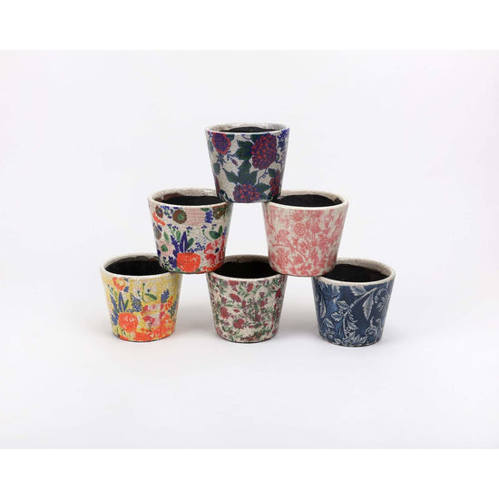 Divalani Style - COLORFUL PATTERN POTS - Home + Bath