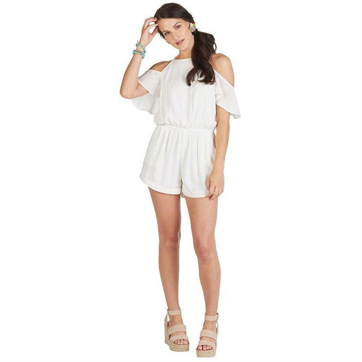 Divalani Style - Hayes Cold Shoulder Romper in White - Women - 718540533192