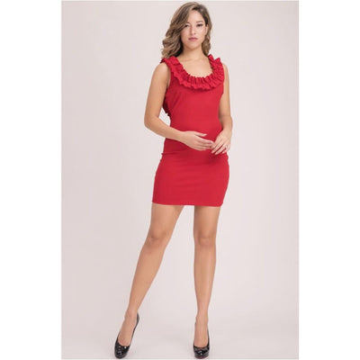 Divalani Style - Red Mini Dress - Women - 6055ap