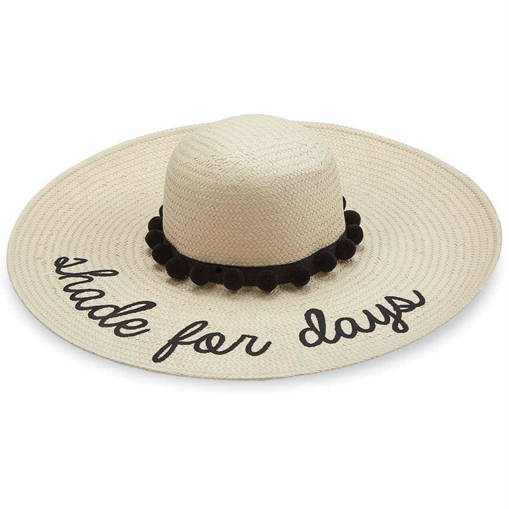 Divalani Style - Shade For Days Straw Pom-Pom Hat Blk Detail - Women